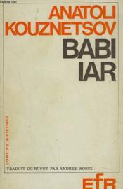 Babi Iar - Couverture - Format classique