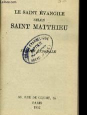Le Saint Evangile Selon Saint Metthieu - Couverture - Format classique