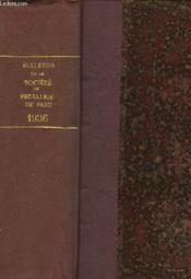 Bulletins De La Societe De Pediatrie De Paris - Tome 34 (En Un Seul Volume) - Couverture - Format classique