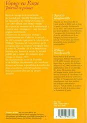 Voyage en Ecosse ; journal et poèmes - 4ème de couverture - Format classique