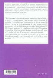 Electromagnetisme 2e Annee Pc-Pc*-Psi-Psi* Exercices Corriges - 4ème de couverture - Format classique