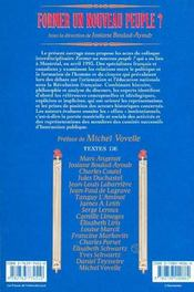 Former Un Nouveau Peuple ? Pouvoir, Education, Revolution - 4ème de couverture - Format classique