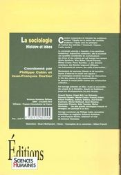 Sociologie ; histoire et idées - 4ème de couverture - Format classique