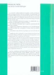Permis De Creer - L'Art De La Gestalt-Therapie - 4ème de couverture - Format classique