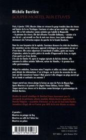 Souper mortel aux étuves ; roman noir et gastronomique à Paris au Moyen Age - 4ème de couverture - Format classique
