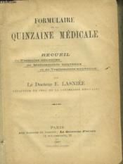 Formulaire De La Quinzaine Medicale - Couverture - Format classique