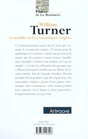 William Turner - 4ème de couverture - Format classique