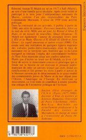 Edmond Amran El Maleh, Cheminements D'Une Ecriture - 4ème de couverture - Format classique