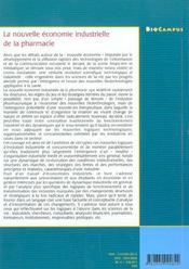 La Nouvelle Economie Industrielle De La Pharmacie : Structures Industrielles, Dynamique D'Innovation - 4ème de couverture - Format classique