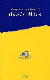 Bouli Miro - Couverture - Format classique