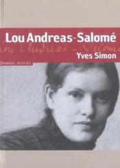 Lou Andréas-Salomé - Couverture - Format classique