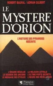 Le Mystere D'Orion - Couverture - Format classique