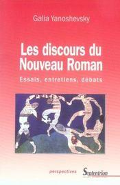 Discours Du Nouveau Roman. Essais, Entretiens, Debats - Intérieur - Format classique