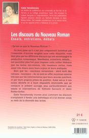 Discours Du Nouveau Roman. Essais, Entretiens, Debats - 4ème de couverture - Format classique