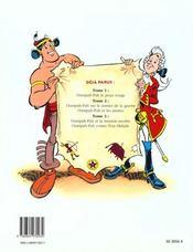 Oumpah-Pah Le Peau-Rouge Tome 1 - 4ème de couverture - Format classique