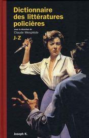 Dictionnaire des littératures policières t.2 - Intérieur - Format classique