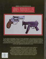 Armes Individuelles - 4ème de couverture - Format classique