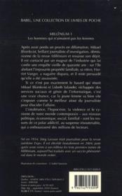 Millenium t.1 ; les hommes qui n'aimaient pas les femmes - 4ème de couverture - Format classique