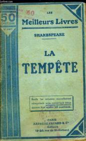 La Tempete - Couverture - Format classique