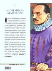 Les chemins de Malefosse t.7 ; la vierge - 4ème de couverture - Format classique