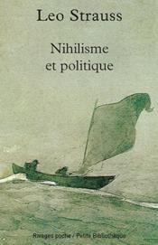 Nihilisme et politique - Couverture - Format classique