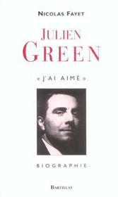 Julien Green J'Ai Aime - Intérieur - Format classique