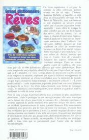 Grand dictionnaire des reves - 4ème de couverture - Format classique