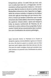 Le Regime Cretois - 4ème de couverture - Format classique