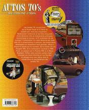 Autos 70's ; des années pop au disco - 4ème de couverture - Format classique
