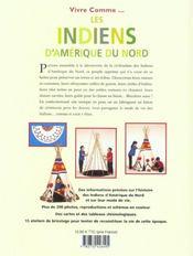 Vivre comme les Indiens d'Amérique - 4ème de couverture - Format classique