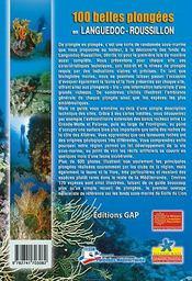 100 belles plongées en Languedoc-Roussillon - 4ème de couverture - Format classique