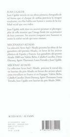 Juan Ugalde - 4ème de couverture - Format classique