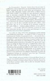Correspondance Alexandre Vialatte-Henri Pourrat T.1 ; Lettres De College 1916-1921 - 4ème de couverture - Format classique