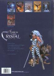 L'épée de cristal t.6 ; la cité des vents - 4ème de couverture - Format classique