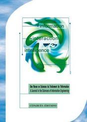 Revue I3 N.6.2 ; Information, Interaction, Intelligence - Intérieur - Format classique