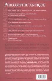 Revue Philosophie Antique N.5 ; Stoïcisme ; Physique, Ethique - 4ème de couverture - Format classique