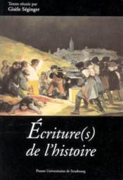Ecriture(S) De L'Histoire - Couverture - Format classique