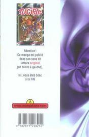 Yu-Gi-Oh t.37 - 4ème de couverture - Format classique