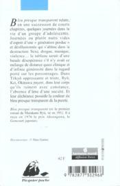 Bleu presque transparent - 4ème de couverture - Format classique