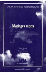 Mariages morts - Couverture - Format classique