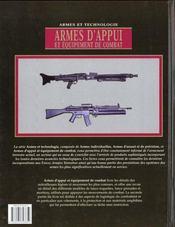 Armes D'Appui Et Equipement De Combat - 4ème de couverture - Format classique