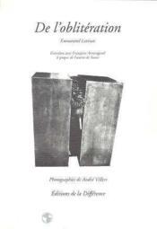 De L'Obliteration - Couverture - Format classique