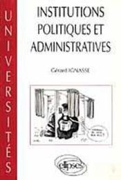 Institutions Politiques Et Administratives - Couverture - Format classique