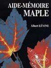 Aide-Memoire Maple - Intérieur - Format classique