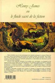 Henry James ou le fluide sacré de la fiction - 4ème de couverture - Format classique