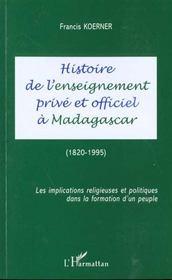 Histoire De L'Ensei(Prive)Gnement Prive Et Officiel A - Intérieur - Format classique