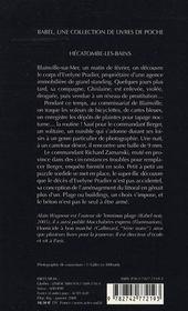 Hecatombe-Les-Bains - 4ème de couverture - Format classique
