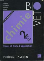 Chimie 2 Spe Bio Veto Deug B - Couverture - Format classique