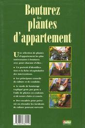 Bouturez Les Plantes D'Appartement - 4ème de couverture - Format classique