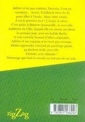 Sidonie quenouille - 4ème de couverture - Format classique